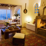 Living Room Villa Hurmuses, Mykonos, Greece. Website: www.mykonosvilla.com