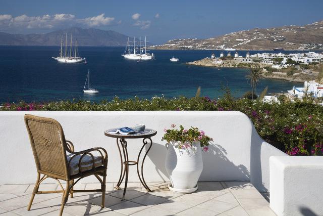 Exterior, Villa Hurmuses, Mykonos, Greece. Website: www.mykonosvilla.com
