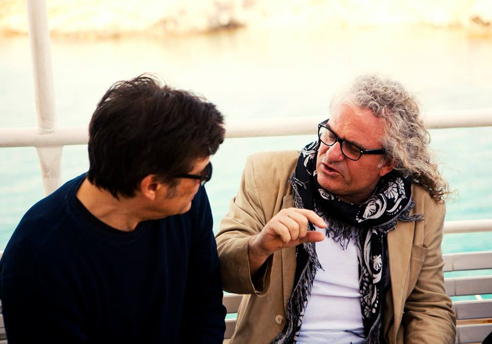 Choraface and Kioukas discussing details for filming DELOS 2015