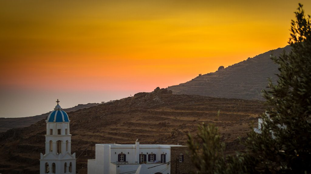 Tinos sunset
